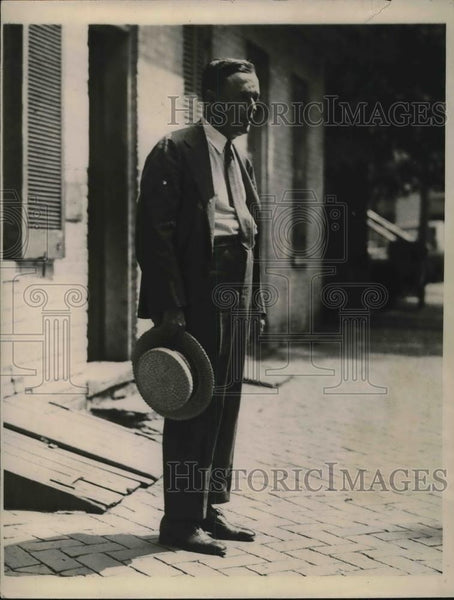 1923 Press Photo Coroner Alban V.Wood head of jury in Mrs.Kepner murders case. - Historic Images