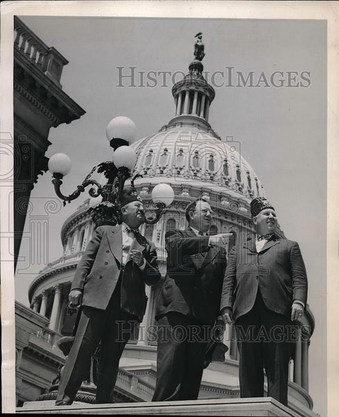 1947 Press Photo Indiana Shriners in Washington D.C. - Historic Images