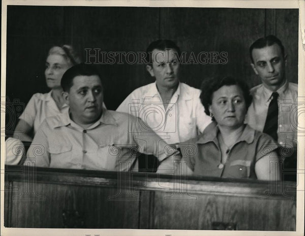 Press Photo Joe Astalos,Flo Stombrys, Adolf Lunder,at a trial - Historic Images