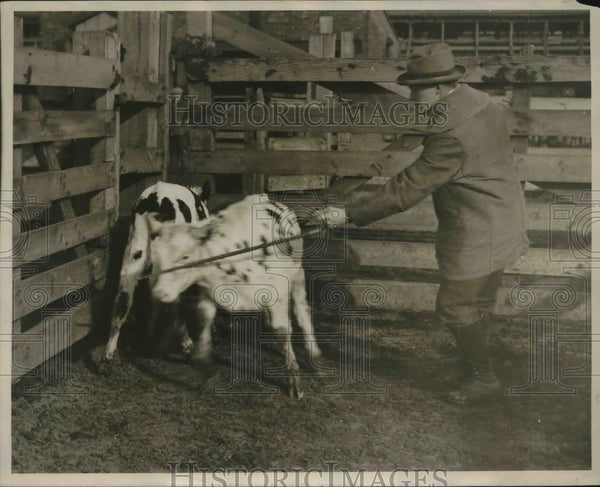 1927 Press Photo Edward Wilson on Farm - Historic Images