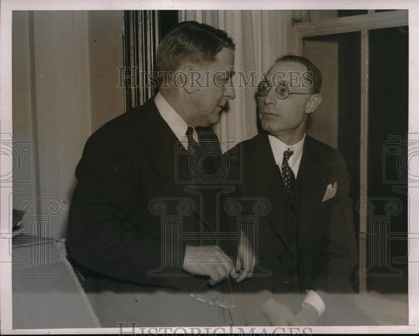 1936 Press Photo Dodgers President Branch Rickey & Wm Benswanger of Pirates - Historic Images