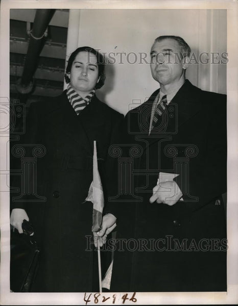1939 Press Photo Spanish Mayor Domingo Torres & wife visit NYC - Historic Images