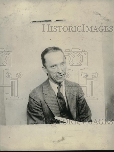 1926 Press Photo Carl D. Davis, American Conductor and Composer. - Historic Images