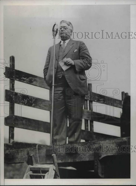1934 Press Photo Joseph R White of Cohoes NY Intl VP of TW of America union - Historic Images