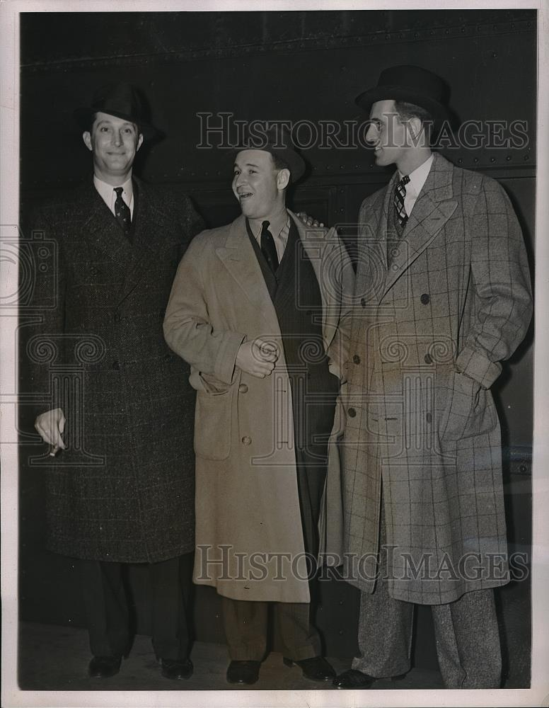 1938 Press Photo Paul Schreiber, Bump Hadley, Jack Fallon - Historic Images