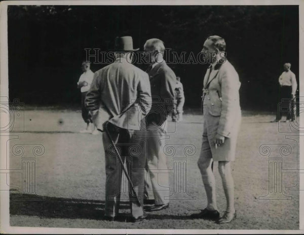1936 Press Photo Ex-King Alfonso of Spain Playing Golf - Historic Images