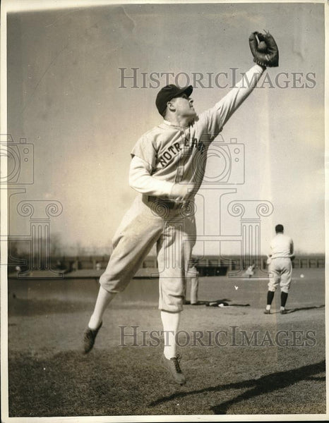 1936 Press Photo Handy Andy Pilney, Notre Dame - Historic Images