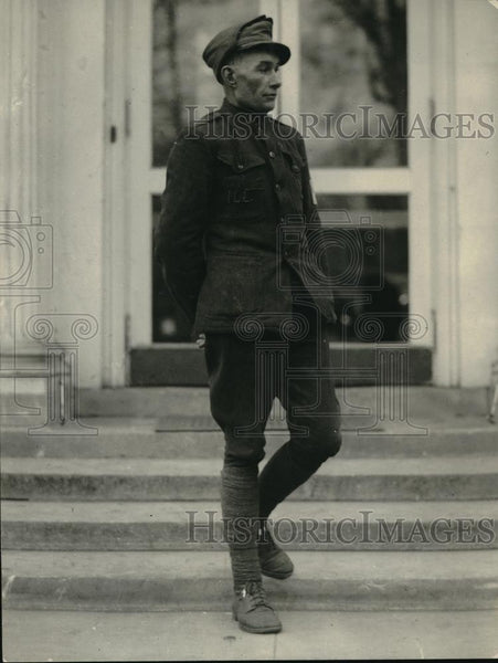 1922 Press Photo H. H. Rufus of Danville, Illinois, walked to Washington - Historic Images