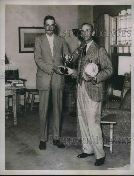 1936 Press Photo Royal Bermuda Yacht club, Eldon Trimingham, Sir TA Cubitt - Historic Images