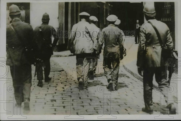 1931 Press Photo Communist Captured and Led to Jail During Riot in Spain - Historic Images