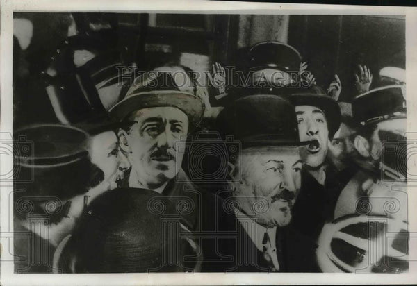 1931 Press Photo Spanish King Alfonso arrives in Paris, France - Historic Images