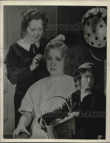 1933 Press Photo Helen MacKellar Gets Hollywood Makeover for The Goose Woman - Historic Images