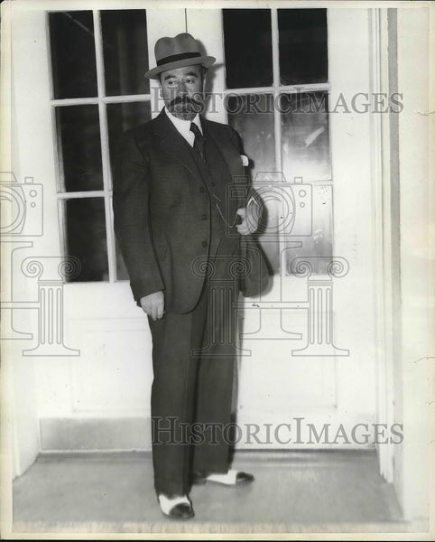 1937 Press Photo Spanish Ambassador Dr. Don Fernando de los Rios - nea86871 - Historic Images