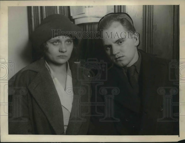 1922 Press Photo Paul & Gertrude Hartsing accused more than 350 burglaries - Historic Images
