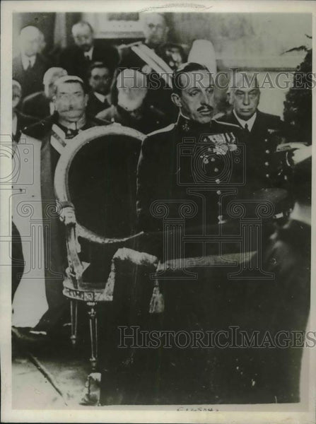 1930 Press Photo Spanish King Alfonso at funeral of Gen Primo de Rivera in paris - Historic Images