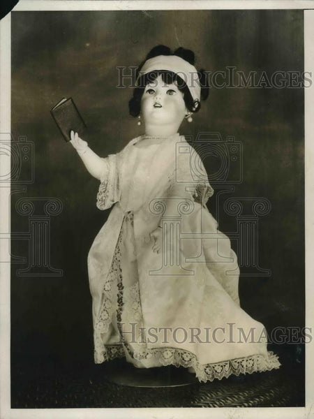 1926 Press Photo Miniature Dolly Madison for a exhibit - Historic Images