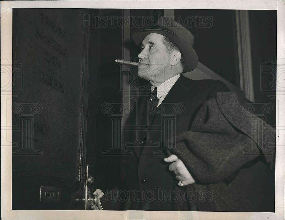 1941 Press Photo Joe McCarthy Manager New York Yankees Attends MLB Dinner - Historic Images