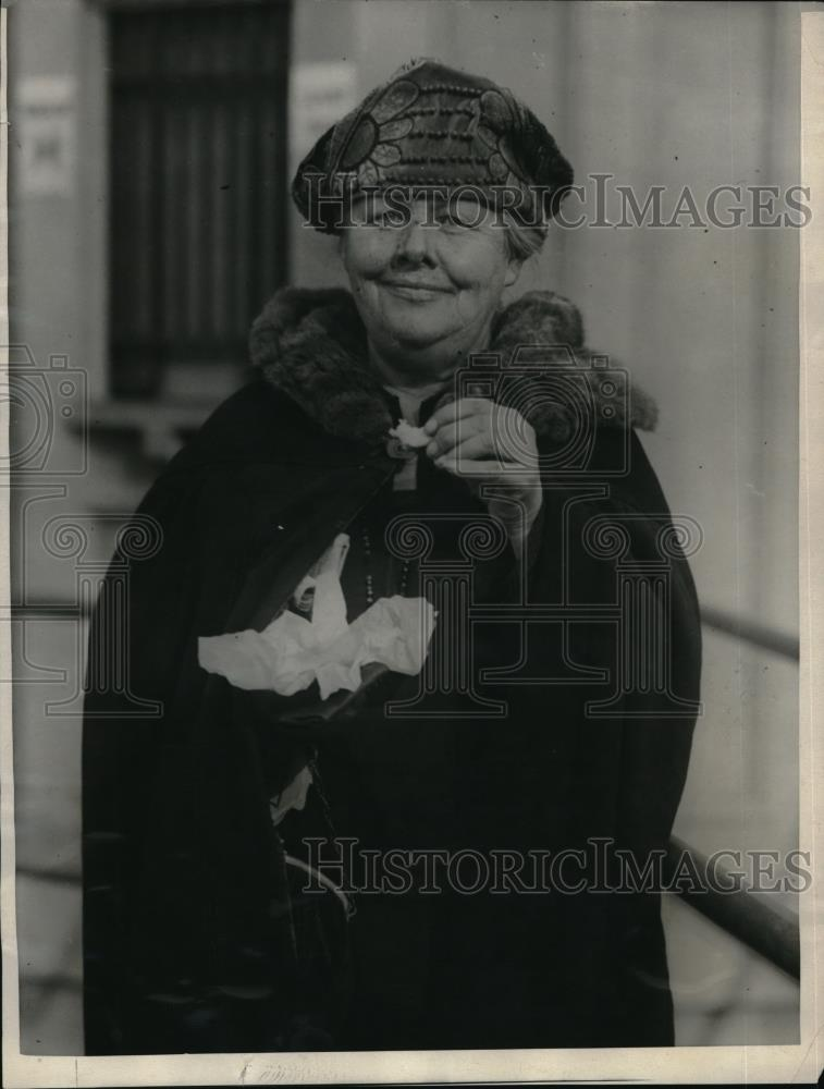 1923 Press Photo Mrs helen Safford, NYC baseball fan - Historic Images