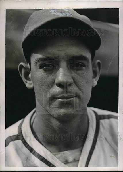 1938 Press Photo August Galan Left fielder for the Chicago Cubs - Historic Images