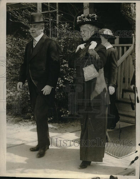 1916 Press Photo Secretary of State and Mrs. Lansing - neb50289 - Historic Images