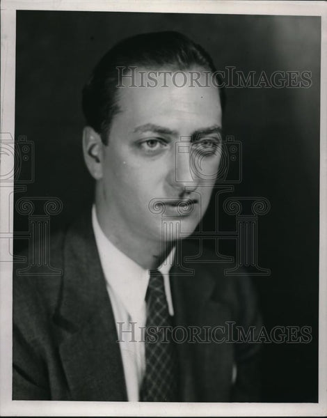 1938 Press Photo Herbert Block an American editorial cartoonist and author - Historic Images