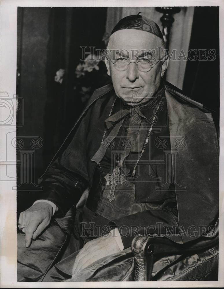 1939 Press Photo Cardinal George Mindelein of the Archdiocese of Chicago. - Historic Images