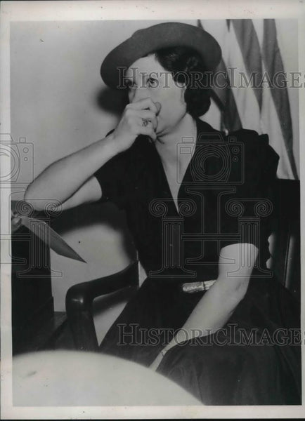 1937 Press Photo Ruth Ragsdale after she was told about the death of Lee Darow. - Historic Images