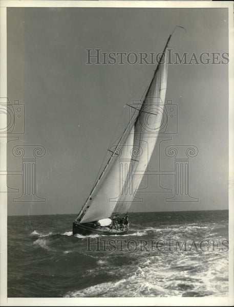 1936 Press Photo Yacht Sunny in Miami at the Miami to Nassau Yacht race - Historic Images