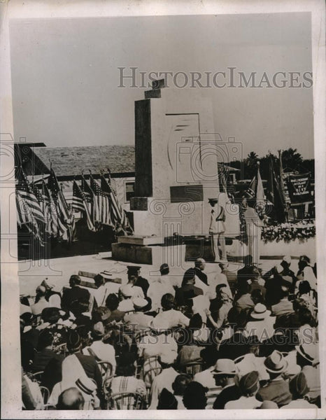 1937 Press Photo Memorial Shaft at Upper Catebumbe Florida - Historic Images