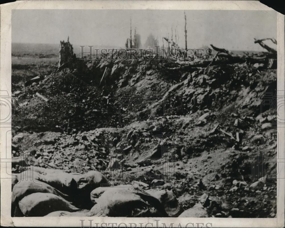 1915 Press Photo The road to Lille, France after the war - Historic Images