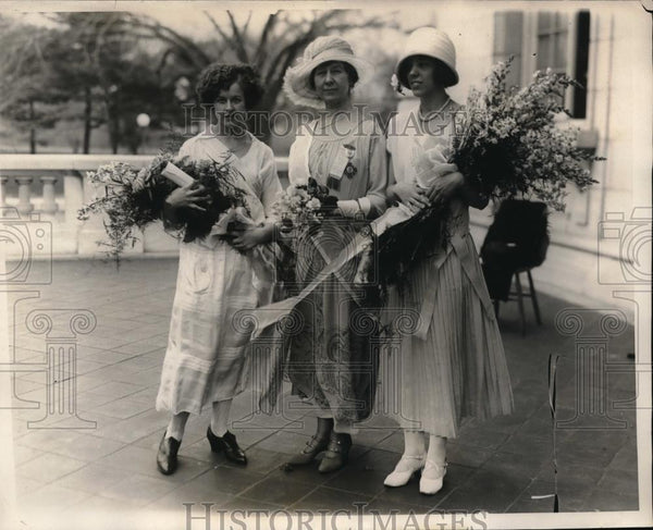 1924 Press Photo D.A.R reception in D.C> M Grimes,Mrs AW Cooke,E Lejeune - Historic Images