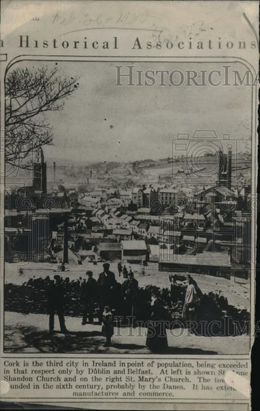 1920 Press Photo City of Cork in Ireland - Historic Images