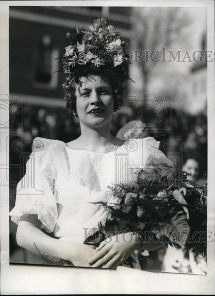 1933 Press Photo Apple Blossom Queen Mary Louise Allen at Pageant - Historic Images