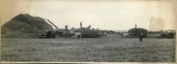 1935 Press Photo Farming near Jackson, Michigan - Historic Images