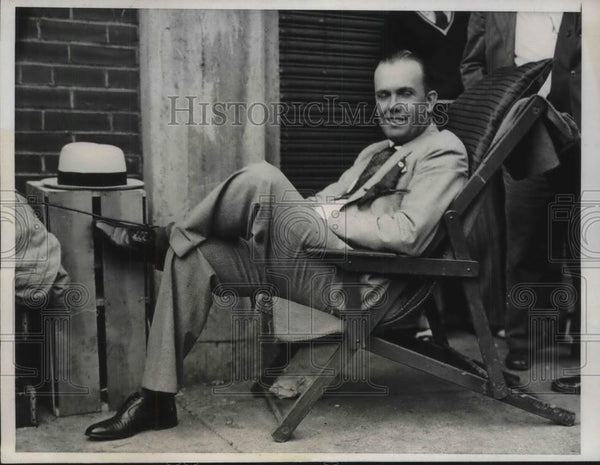 1931 Press Photo Horace Anspaugh of Sedalia, Mo to buy world Series tickets - Historic Images