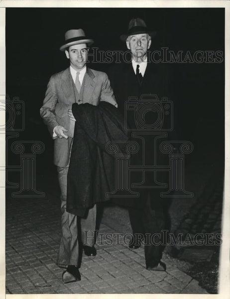 1933 Press Photo Joseph Choate, Liquor Adminstrator, E. G. Lowry - Historic Images