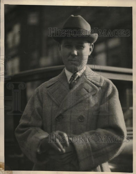 "1922 Press Photo Major C Wright Anderson ""Tiger's Eye"" Secret Society - Historic Images"