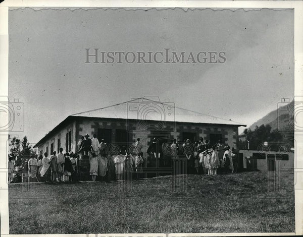 1935 Press Photo Dessie Station Hospital Eritrean Border African Camp - Historic Images