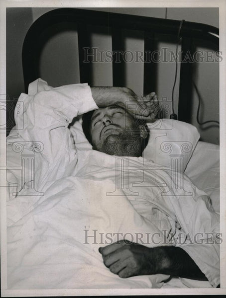 1935 Press Photo Hans Noersgaano, parole violater returned to Folsom Prison - Historic Images