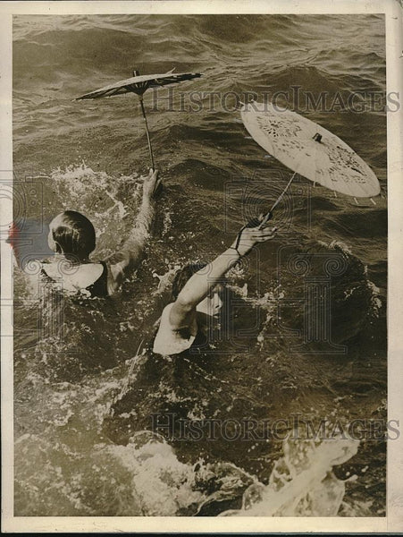 1927 Press Photo Scene from an unusual race on the Clacton sea where the - Historic Images