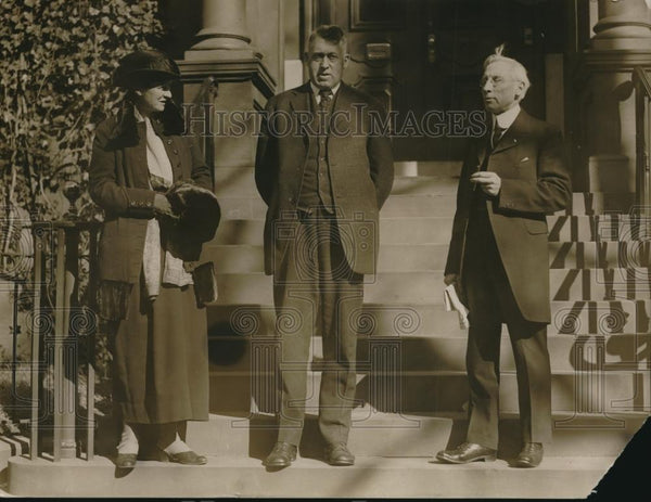 1920 Press Photo Hilda Loines, Cg Patterson & JD Miller, delegates to the - Historic Images