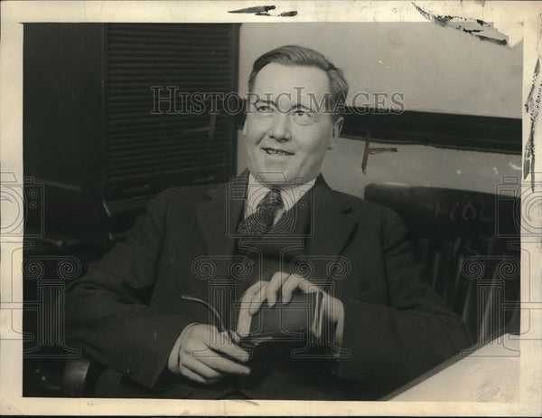 1922 Press Photo Cyril Woodworth Armstrong Attorney - Historic Images