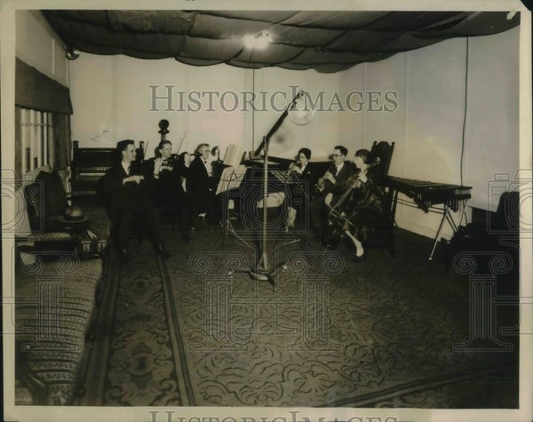 1926 Press Photo Wood Ensemble Plays At Hotel Rowe - Historic Images