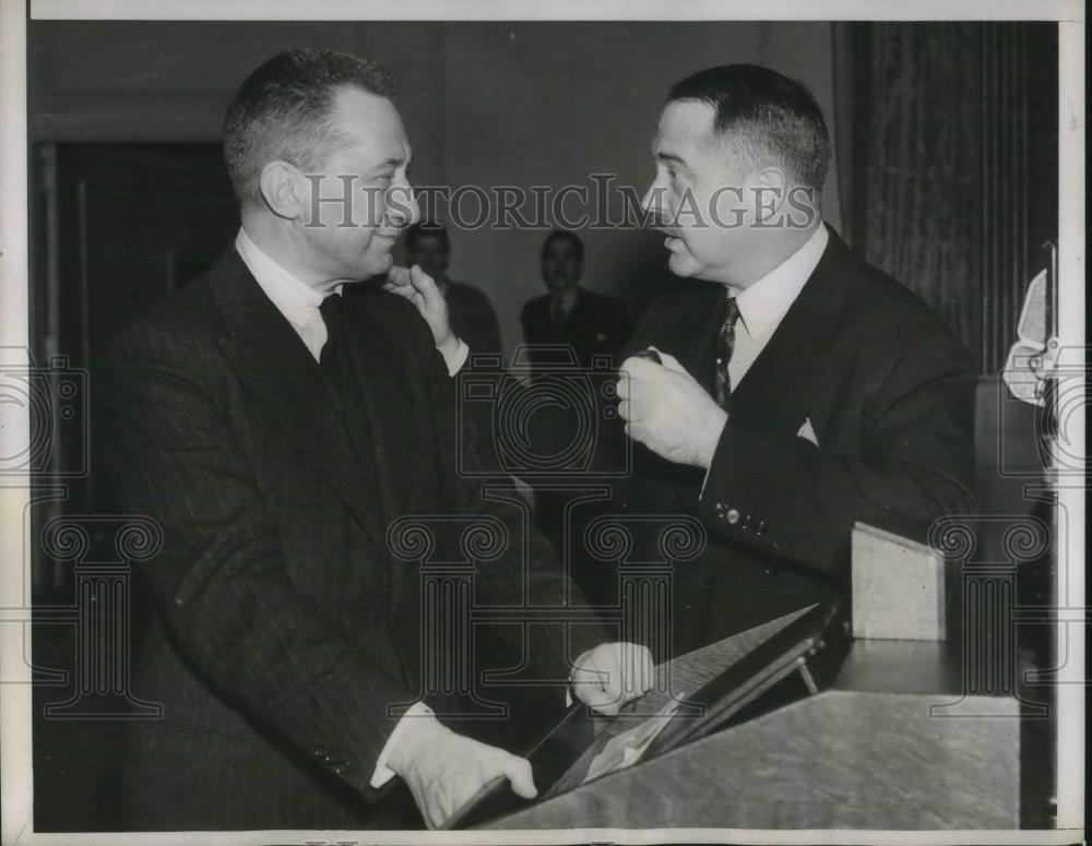 1938 Press Photo Former Russia Premier Alexander Kerensky with Kenneth Simpson - Historic Images