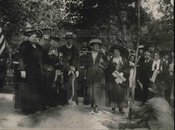 1920 Press Photo District of Columbia Federation of Women's Club Plant Tree - Historic Images