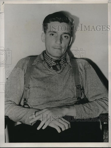1938 Press Photo Lawrence Gough, Confessed Murderer - Historic Images