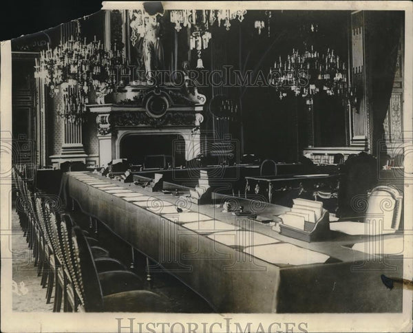 1923 Press Photo Salle des Horloges at French Ministry in Paris - Historic Images