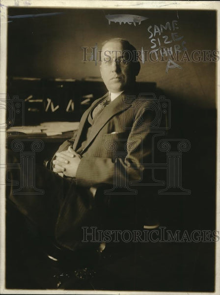 1918 Press Photo District Attorney Charles Weeks of Nassau County, New York - Historic Images