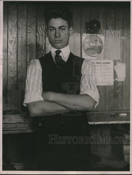 1920 Press Photo Irvine Williams Newspaper Man - Historic Images