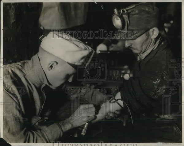 1923 Press Photo Doctor Taking Blood Sample from Test Car Driver - neb90649 - Historic Images